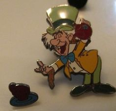 Disney-Trading-Pin-The-Mad-Hatter-and-Teacup-Two-Pin-Set-Alice-in-Wonderland-HTF