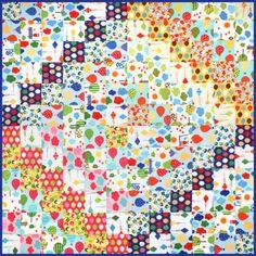"= free pattern = Scrappy Trip quilt, ~58 x 58"", at Robert Kaufman Fabric Company"