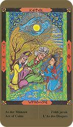 Ace of Coins from the Kazanlar Tarot at TarotAdvice Tarot Reading, Tarot Decks, Tarot Cards, Art Gallery, Coins, Happy, Artwork, Image, Tarot Card Decks