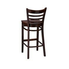 """Regal Bar Stool Seat Height: 24"""", Finish: Natural, Footrest and Nail Trim: Chrome"""