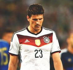 Mario Gomez of Germany looks dejected during the international friendly match between Germany and Argentina at Esprit-Arena on September 2014 in Duesseldorf, Germany. Mario Gomez, German Football Players, Soccer Players, Football Team, Fifa, European Football, Turkish Actors, Superstar, Germany
