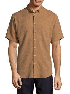 Publish Layton Casual Button-down Shirt In Khaki Joey Tribbiani, Button Down Collar, Discount Designer, Cotton Linen, Short Sleeves, Men Casual, Mens Fashion, Clothes For Women, Mens Tops