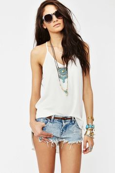 Ashland Racerback Tank - Ivory | Shop Clothes at Nasty Gal