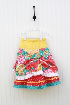 Colorful, fun little girl's skirt