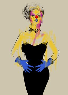 """Clowny "" by Agnieszka Sukiennik, via Behance Sketches, Clowns, Fashion Illustrations, Disney Princess, Disney Characters, Behance, Women, Design, Art"