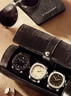 The Britain watch and leather accessories