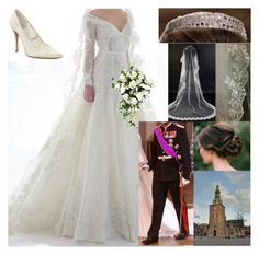 """""""#FLASHBACK: Wedding of Prince Philippe of Belgium and Lucero Dobrev."""" by lucerovanbelgie ❤ liked on Polyvore featuring Reception, Stuart Weitzman, women's clothing, women, female, woman, misses and juniors"""