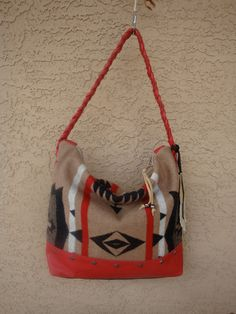 Red Leather Purse Hand Bag With Tribal by DiamondArrowLeathers, $180.00