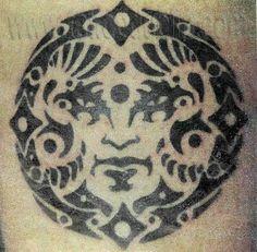 tribal face tattoo by tattoodublin.com