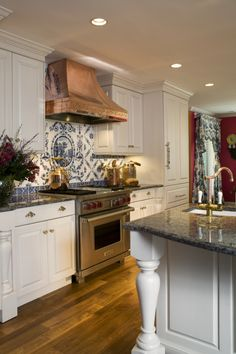 Copper Kitchen Hoods Kitchen Delightful Kitchen Decoration Ideas Using Blue Tile Copper Kitchen Backsplash Along With Steel Kitchen Vent Hood And Recessed Light In Kitchen Good Looking Copper Kitchen Backsplash For Kitche Inspiration and Design Ideas for Kitchen Island Hood Ideas, Kitchen Hood Design, Kitchen Vent Hood, Copper Kitchen, Rustic Kitchen, Kitchen Decor, Kitchen Ideas, Kitchen Inspiration, Kitchen Ceiling Lights