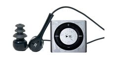 SILVER - WATERPROOF Apple iPod shuffle - waterproofed for swimming, surfing and dancing in the rain Underwater Audio, Swimming Hairstyles, Waterproof Headphones, Swim Training, Swimming Tips, Dancing In The Rain, Workout Gear, Mp3 Player, Travel Size Products