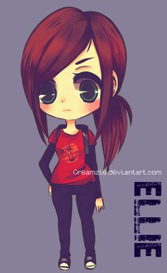 The Last of Us - Ellie - Chibi by =Creamzie on deviantART http://www.deviantart.com/art/The-Last-of-Us-Ellie-Chibi-380543840