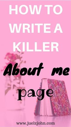 Writing an epic page can be daunting and not fun at all.Check out my post on how to write to an epic about me page.All the tips you need to improve it