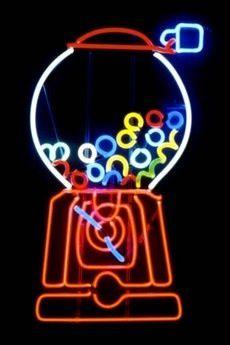 Neon Gumball Machine