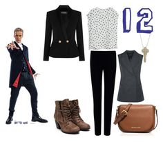 Twelfth Doctor by tynestar on Polyvore featuring MANGO, Balmain, Joseph, MICHAEL Michael Kors and The Giving Keys