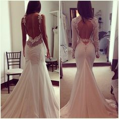 Amazing back wedding dress
