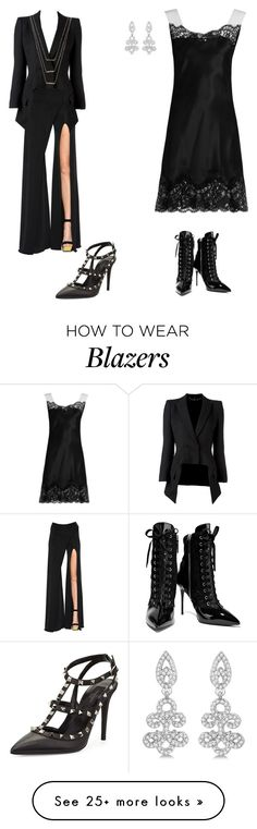 """""""My First Polyvore Outfit"""" by rizqiaalfianti on Polyvore featuring Balmain, Alexander McQueen, ERTH, Valentino, Givenchy, Giuseppe Zanotti and Allurez"""