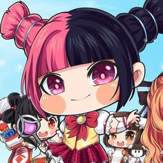 Which lolis do you want to pick? My Melody Wallpaper, Mobile Legend Wallpaper, Akali Lol, Moba Legends, The Legend Of Heroes, Sailor Saturn, Cute Chibi, Kawaii Drawings, True Colors