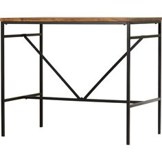 The Cortaro pub table is stylish and trendy. This edgy industrial style pub dining set is sure to bring any space up to date. The counter height dining table showcases a rectangular table top exhibiting an attractive natural wood grain, resting upon a sturdy metal frame for long-lasting quality. The perfect stage for framed photos and objects d'art in the den, this understated pub table features a black-finished metal base and chestnut-finished mango wood finish.