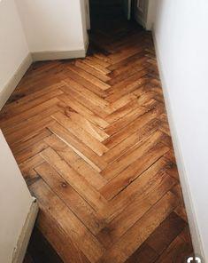 End grain herringbone wood floors