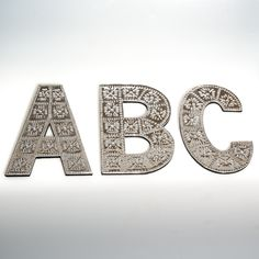 Large wall hanging metal pressed letters