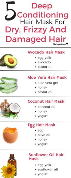 Get your hair problems solved with these deep conditioning hair mask. It moisturizes dry, frizzy and damaged hair and also promote hair growth. hair remedies 5 Deep Conditioning Hair Mask For Dry, Frizzy & Damaged Hair Coconut Hair Mask, Egg Hair Mask, Egg For Hair, Hair Mask For Damaged Hair, Diy Hair Mask For Dry Hair, Masks For Hair, Hair Mask Curly Hair, Treatment For Damaged Hair, Damaged Hair Repair Diy