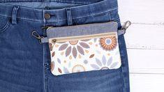 DIY BELT POUCH BAG [sewingtimes] Diy Belt Pouches, Diy Coin Purse, Coin Purse Pattern, Bag Pattern Free, Belt Purse, Pouch Pattern, Bag Patterns To Sew, Pouch Bag, Coin Purses
