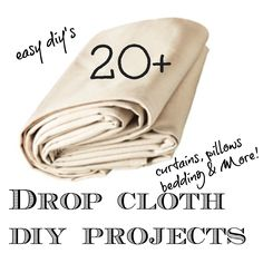 20 + Drop cloth diy projects09- I did this fifteen years ago when my kitchen was vintage 50's.  Drop cloths take paint well, are sturdy and iron crisply, Be sure to wash the drop cloths first to pre shrink and remove sizing.