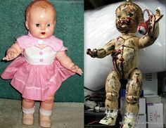 Before & After . . . Making A Creepy Prop by RightBrainPhotography, via Flickr