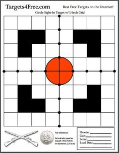 The new target this week is a high-quality circle sight-in shooting target with black visual aids and a crosshair down the center. Easy to see at range! Shooting Targets, Shooting Sports, Shooting Guns, Shooting Range, Shooting Bench, Deer Targets, Pistol Targets, Bow Target, Target Image