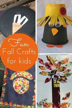Fun and East Fall Crafts for Kids from Amanda Formaro of Crafts by Amanda