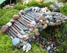 Fairy Garden Bridge - A Handmade OOAK Miniature: Reserve yours now #miniaturefairygardens