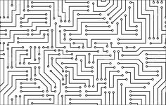 Illustration about Black and White Printed Circuit Board Seamless Background with Pattern in Swatches. Illustration of black, scheme, pattern - 37419902 Circuit Board Design, Printed Circuit Board, Tile Patterns, Textures Patterns, Black And White Google, Black White, Computer Chip, Paper Bookmarks, Chip Art