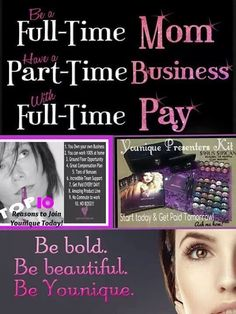 Attention: Stay at home Mom's, Working Mom's, or those looking for some extra pay! Younique is for you! Throw exclusive online parties from the comfort of your own home and discover some amazing products! Contact me for details