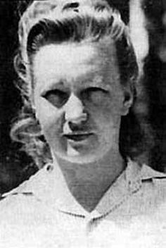 """Dorothea Binz (March 16, 1920 – May 2, 1947) was an SS supervisor at Ravensbrück concentration camp during the Second World War.    Described by the prisoners as """"unyielding"""" Binz was well known to beat, shoot and whip the females in her charge. In one instance of particular brutality she is reported to have chopped a prisoner to death with an axe during a forced labor assignment. While she fled at the close of the war she was caught, tried and on May 2, 1947 executed for her crimes."""