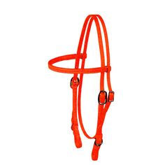 image of hunter orange headstall (bridle)