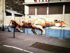 Street art !  #streetart #art #france #graffiti #graff #instagraffiti #instagraff #urbanart #wallart #artist #urbanart  #illegalart  #tag #paris #parisjetaime #france #sauvage #animal
