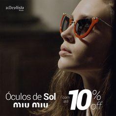 Óculos de Sol MIU MIU com até 10% de desconto Compre pelo site em até 10x Sem Juros e Frete Grátis nas compras acima de R$400,00 reais. 👉 www.aoculista.com.br/miu-miu #aoculista #glasses #eyeglasses #oculos #sunglasses #miumiu