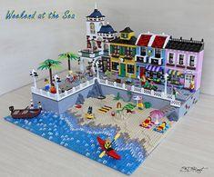 Weekend al mare - sdrnet - Il Forum di ItLUG – Italian LEGO® Users Group Weekend at the sea - sdrnet Lego Display, Lego Modular, Lego Design, Lego City, Legos, Lego Lego, Lego Beach, Lego Village, Lego Activities