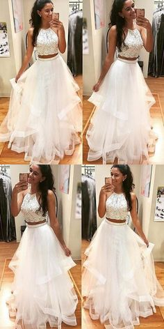 Sale Trendy Prom Dresses White, Prom Dresses For Teens, Prom Dresses Two Piece, Prom Dresses Long Prom Dresses Long Prom Dresses Two Piece White Evening Dress Prom Dress Prom Dresses For Teens Prom Dresses Long Fancy Prom Dresses, Dresses Elegant, Prom Dresses Two Piece, Prom Dresses For Teens, Beaded Prom Dress, A Line Prom Dresses, Lace Evening Dresses, Sweet 16 Dresses, Dance Dresses