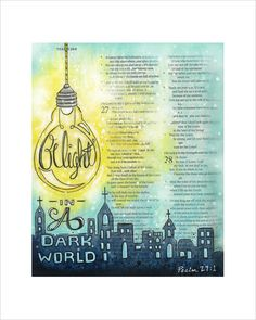 Be Light Bible Journaling Print Illustrated door fischtaledesigns