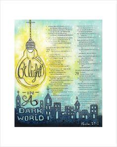 Be Light Bible Journaling Print Illustrated door fischtaledesigns