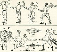 1897 Escrime Sport de Combat Epée Planche par sofrenchvintage