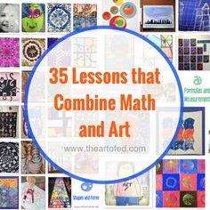 35 Lessons that Explore the Beautiful Pairing of Math and Art – The Art of Education University 35 Lektionen, die die schöne Kombination von Mathematik und Kunst erforschen Math Art, Fun Math, Maths, Middle School Art, Art School, High School, Steam Art, Arts Integration, Math Projects
