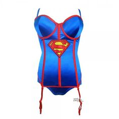 Supergirl Corset with Panty - Dress up as your favorite super hero.