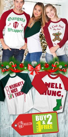 BUY 2 Get 1 FREE... Huge Holiday/Christmas Sale! Only Available at www.21threads.com - Don\'t Miss Out On Your Chance To Be The Hit Of The Holidays! ~ Cheers