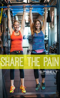 No pain, no gain! Sharing the pain with a friend makes working out suck less. #Fitness | SPIbelt
