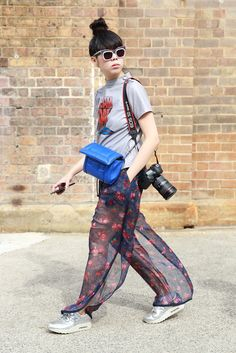 Susie bubble in breezy pants. #Australiafashionweek