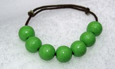 Hand made green wooden beaded bracelet. Creativity, Beaded Bracelets, Green, Handmade, Etsy, Shopping, Jewelry, Jewellery Making, Pearl Bracelets