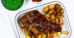 Treat the family to a mouthwatering rosemary & garlic roast lamb paired with roast potatoes and peas. Lamb Recipes, Meat Recipes, Cooking Recipes, Dinner Recipes, Pumpkin Salad, Lamb Dishes, Roast Lamb, Main Meals, Family Meals